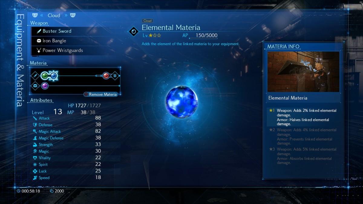 Final Fantasy 7 Remake: Materia, menu and functioning - Millenium