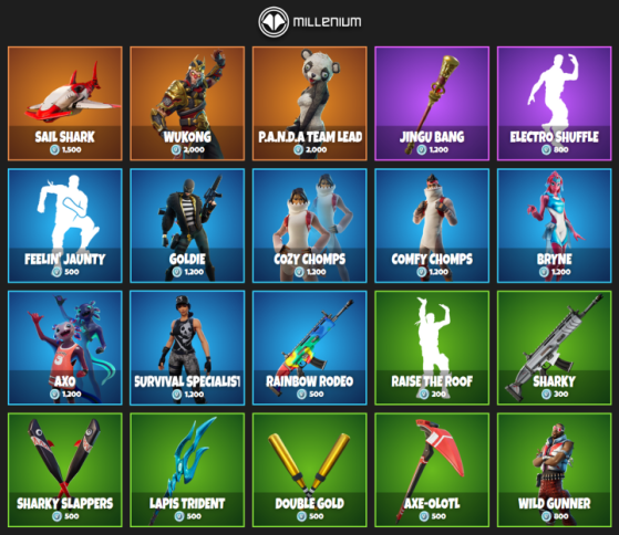 What Is In The Fortnite Item Shop Today Wukong Returns On August 10 Millenium Check out all of the fortnite skins and other cosmetics available in the fortnite item shop today. what is in the fortnite item shop today