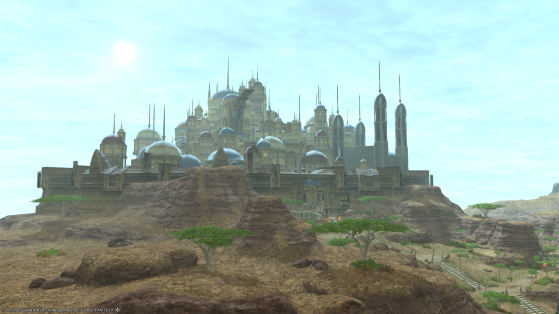 FFXIV: Ul'Dah from the sky - Final Fantasy XIV