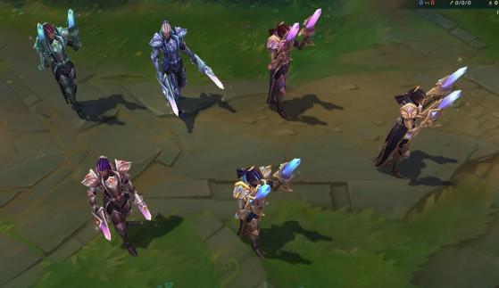 Victorious Lucian chromas: front view - League of Legends