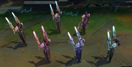 Victorious Lucian chromas: back  view - League of Legends