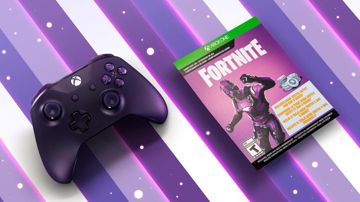 Fortnite: Dark Vertex Skin and Xbox World Cup controller