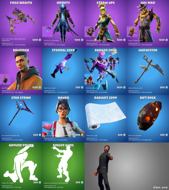 Fortnite Store Tmm What S On Offer In The Fortnite Item Shop For October 4 Millenium