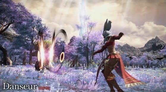 The Dancer, a Physical Ranged DPS class: https://fr.finalfantasyxiv.com/ - Final Fantasy XIV
