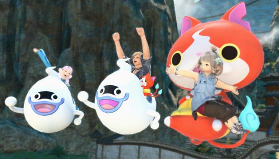 FFXIV Whisper-go, Whisper A-go-go, and Jibanyan Couch - Final Fantasy XIV