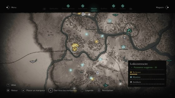 Location on the map. - Assassin's Creed Valhalla