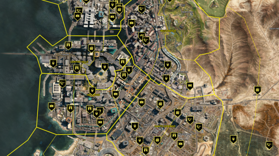 Cyberpunk 2077 interactive map with all loot, quest and secrets