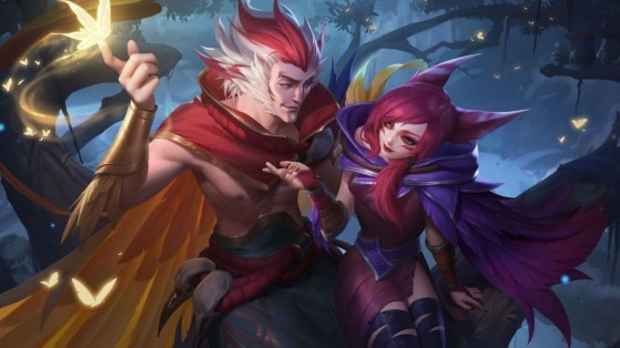 Wild Rift: The Lunar Lovers event features Xayah and Rakan