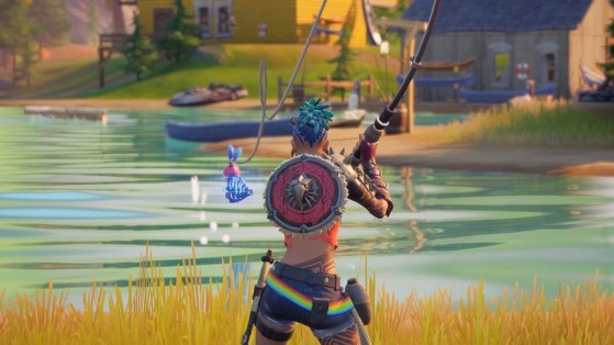 Fortnite Week 3 Challenge: Catch fish at Camp Cod, Lake Canoe, or Stealthy Stronghold