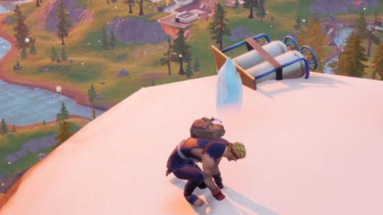 Fortnite Season 6 Challenge: Place a spirit crystal at the tallest mountain