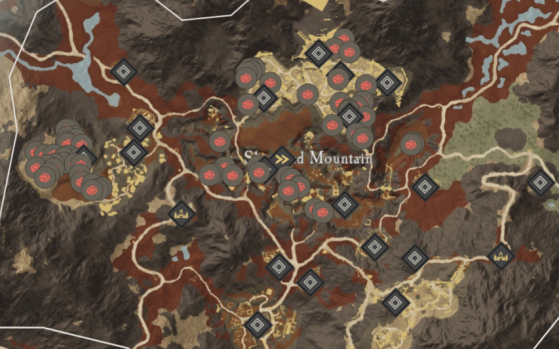 Orichalcum Ore Locations in Shattered Mountain. - New World