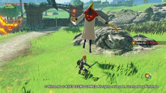 The Fire Wizzrobe. - Hyrule Warriors: Age of Calamity