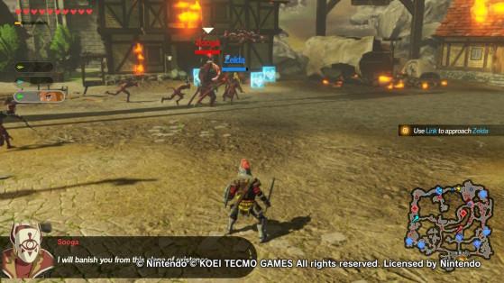Fighting Sooga in Hyrule Warriors: Age of Existence. - Hyrule Warriors: Age of Calamity