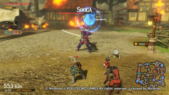 Sooga and a remote bomb trigger. - Hyrule Warriors: Age of Calamity