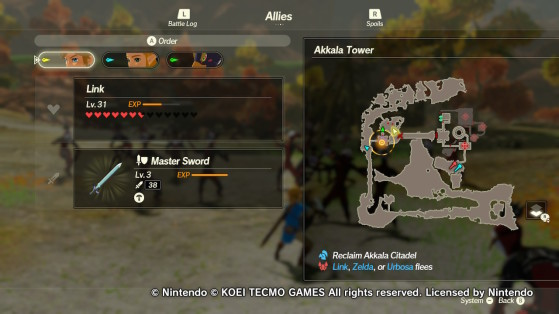 The location of the first furnace in Akkala Tower - Hyrule Warriors: Age of Calamity