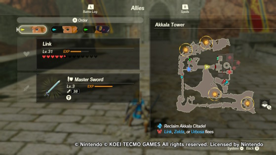 The four furnace locations in Hyrule Warriors: Age of Calamity - Hyrule Warriors: Age of Calamity