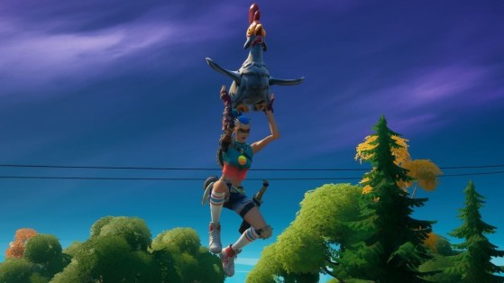 Fortnite Week 3 Challenge: Fly 20 meters with a chicken
