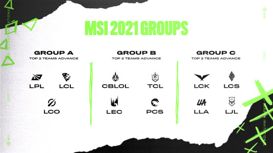 The groups heading into MSI 2021. - League of Legends