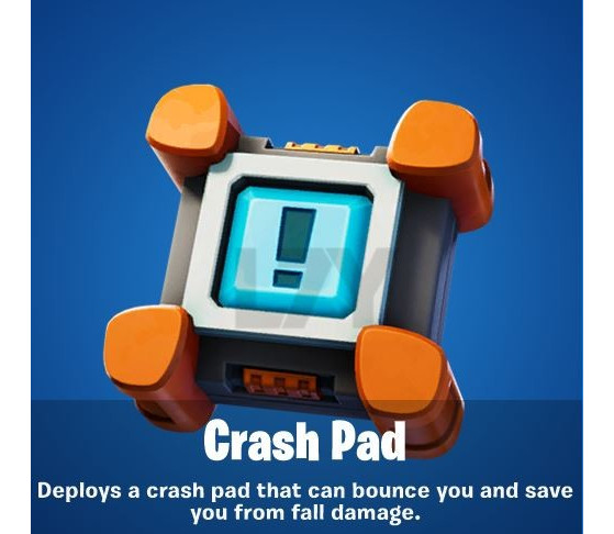 Trampoline Thing In Fortnite Fortnite Bounce On The Brand New Crash Pad Millenium
