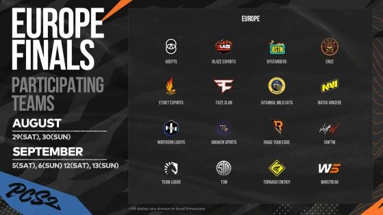 PCS2 Europe Grand Finalists - PUBG