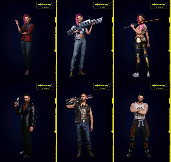 Clothing styles: Corpo / Nomad / Street Kid - Cyberpunk 2077