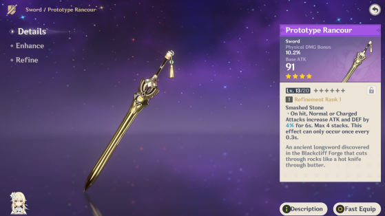 Free weapon at adventurer level 10 - Genshin Impact