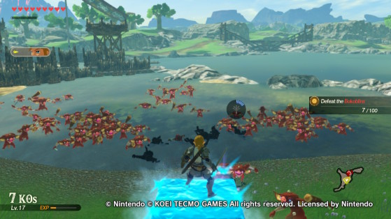 Surveying the land in the Cryonis mission. - Hyrule Warriors: Age of Calamity