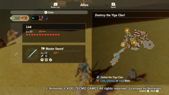 The three outposts in the Yiga Clan Hideout - Hyrule Warriors: Age of Calamity