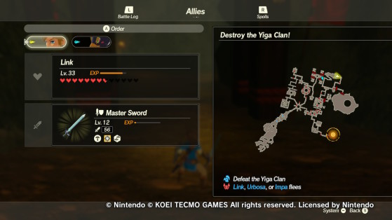 The location of the second scout. - Hyrule Warriors: Age of Calamity