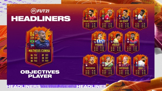 FUT 21: How to earn Headliners Cunha, Objectives