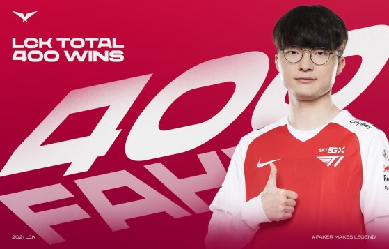 League of Legends: Faker becomes the first player to achieve 400 victories in the LCK