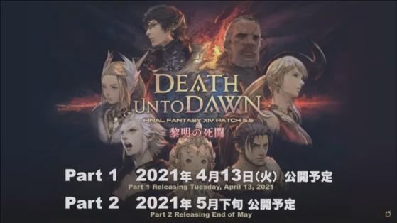 FFXIV 5.5 Part 1 & 2 Release dates - Final Fantasy XIV