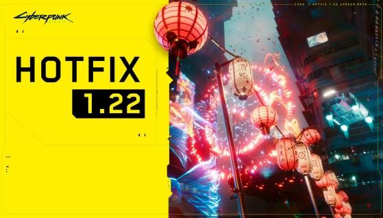 Cyberpunk 2077 receives a new hotfix (1.22)