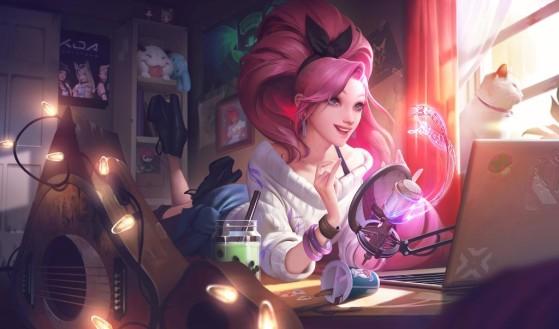 K/DA ALL OUT Seraphine: Indie skin splash art - League of Legends