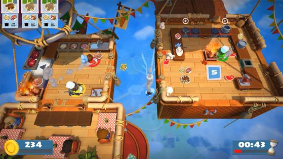 A frantic level in Overcooked! 2. Image Source: Nintendo - Millenium