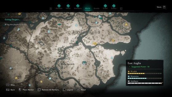Location of the treasure map - Assassin's Creed Valhalla