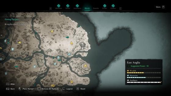 Location of the treasure - Assassin's Creed Valhalla