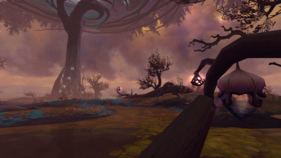 The Mists of Tirna Scithe, halfway between natural beauty and repugnant decay - World of Warcraft