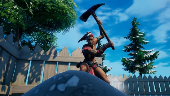 Fortnite: Find the buried Blue Coin in Retail Row