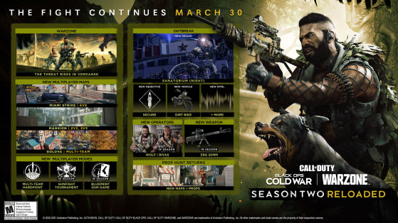 Season 2 Reloaded patch notes revealed by Treyarch