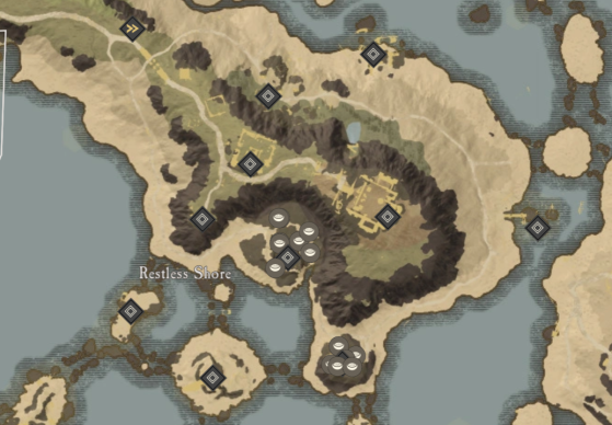 Saltpeter Locations in Restless Shore. - New World