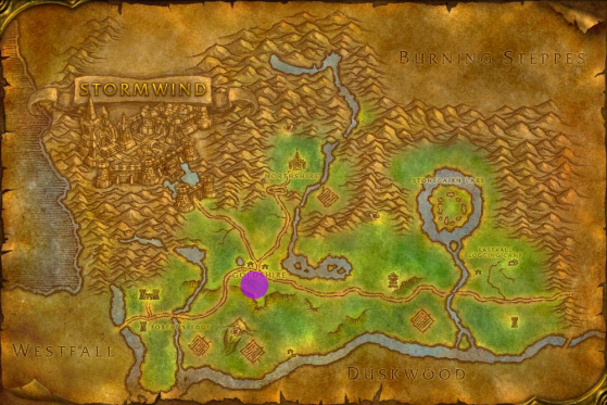 Location of the Faire in Elywnn Forest - World of Warcraft: Classic