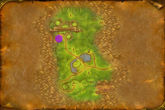 Location of the Faire in Mulgore - World of Warcraft: Classic