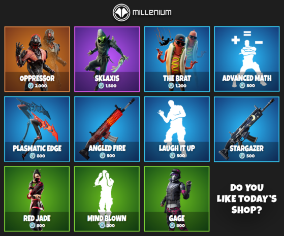What Is In The Fortnite Item Shop Today The Brat Is Back On March 19 Millenium What is in the fortnite item shop today ? fortnite item shop today the brat