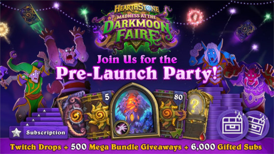 Hearthstone: Madness at the Darkmoon Faire Pre-launch party — Earn rewards by watching streams