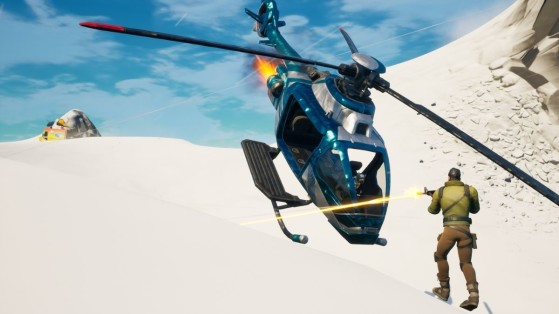 Fortnite XP Xtravaganza Challenges: Damage opponents using the Choppa's blades