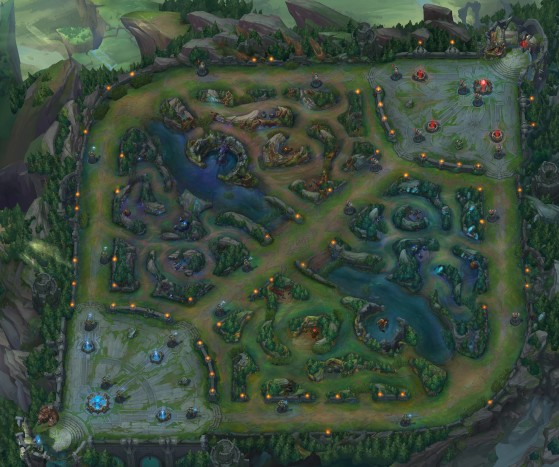 Summoner's Rift. Image Source: Riot Games - League of Legends