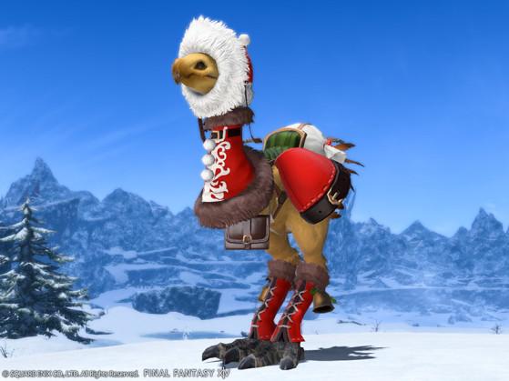 FFXIV Christmas chocobo barding - Final Fantasy XIV