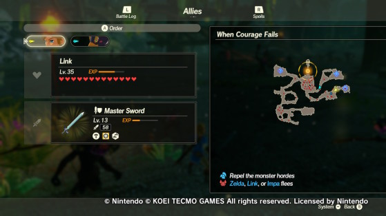 When Courage Fails objective - Hyrule Warriors: Age of Calamity