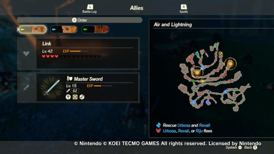 Two new waypoints - Hyrule Warriors: Age of Calamity